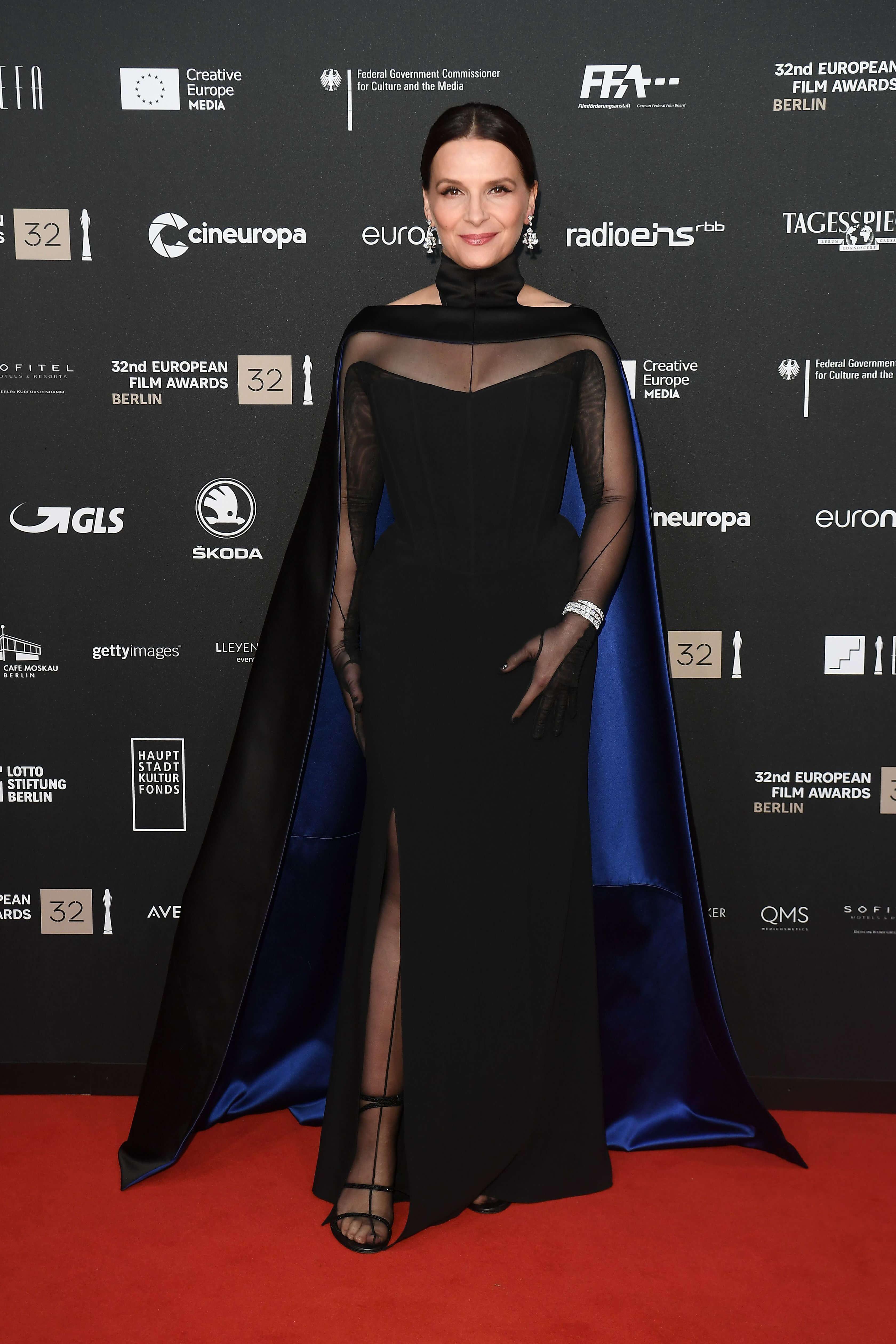 Juliette Binoche wears Mugler